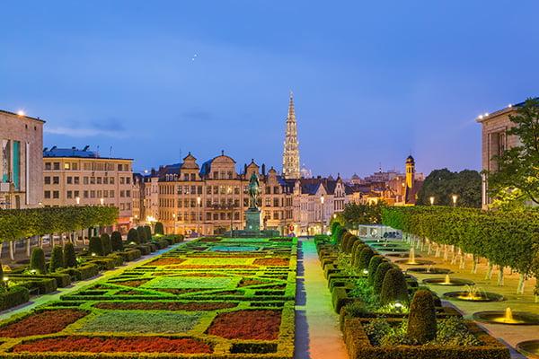 bigstock Monts des Arts in Brussels Bel 332456542